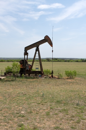 nonrenewable: Oil Pump in the West Texas Countryside Stock Photo