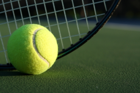 Tennis Ball and Racket with room for copy