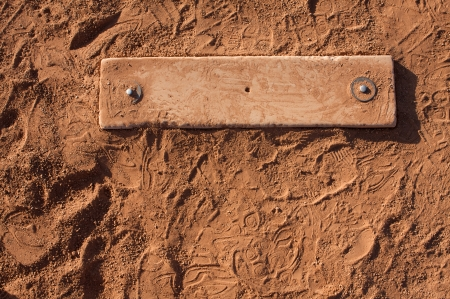 cleat: Baseball Field Pitchers Mound surrounded by cleat marks
