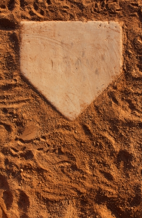 baseball field: Baseball Field Home Plate with Room for Copy