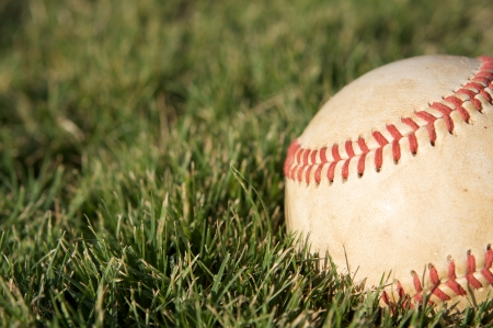 Baseball on the grass with room for copy Stock Photo - 23750137