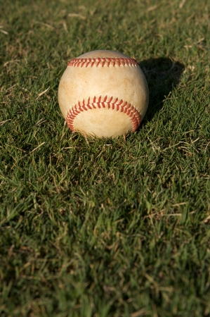 Baseball in the outfield grass Stock Photo - 23750143