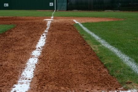 base: Baseball Field First Base Line Stock Photo