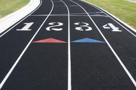 athletics track: Four Laned Running Track
