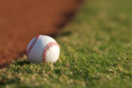 shallow depth of field: Baseball on the field with shallow Depth of Field