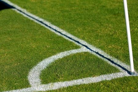 futbol soccer: Lines of a Soccer Field Corner for sport background