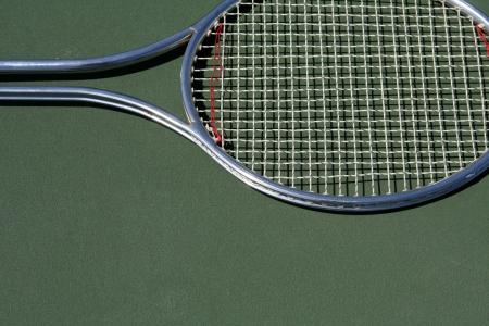 Tennis Racket with room for copy below