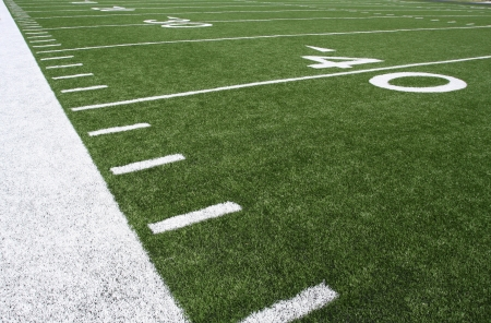 American Football Field Yard Lines in het Veertig