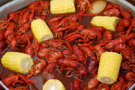 Gamberi da un Louisiana Cookout Archivio Fotografico - 23755951