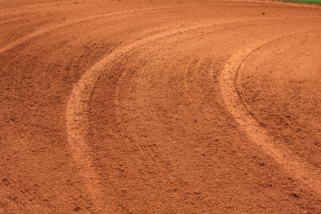 infield: Baseball Infield Dirt Patterns from being raked