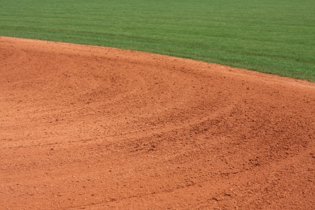 infield: Patterns in the Baseball Infield for sports background Stock Photo