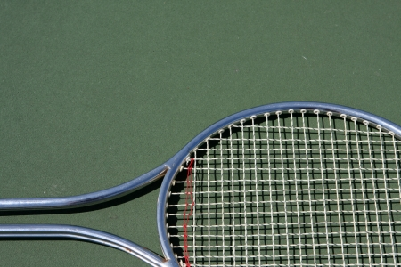 Tennis Racket with room for copy above Imagens