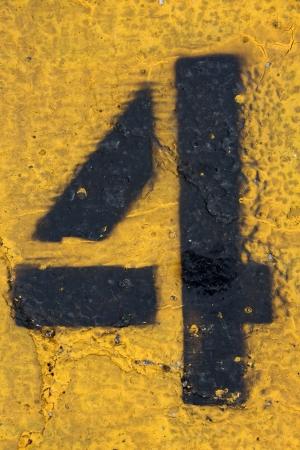 Number Four on Painted Asphalt, more in this series Reklamní fotografie