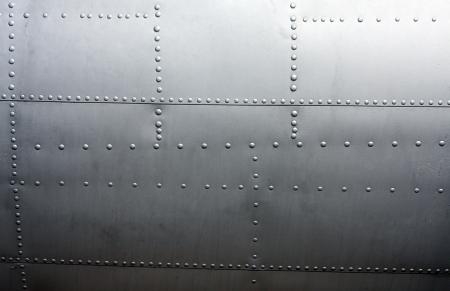 Achtergrond van het Metaal van de lambrisering van een vintage vliegtuig