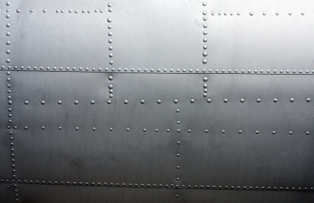 Metal Background from the paneling of a vintage airplane