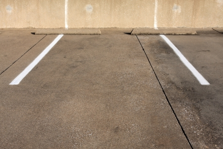 spot: Empty Parking Space Stock Photo