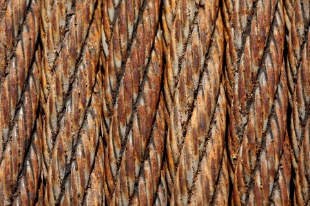 Old Rusted Steel Cable for Industrial or Grunge background