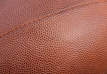 seam: American Football texture for sports background with seam included Stock Photo