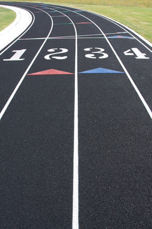 athletics track: Curve of a Running Track