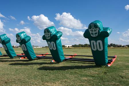 American Football Practice Hit Pads Reklamní fotografie - 26472217
