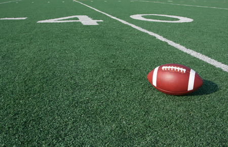 american football field: American Football with the Forty Yard Line Beyond