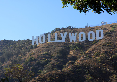 Hollywood sign in the hills North of LA