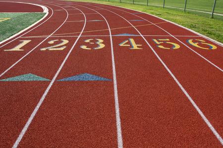 Startlijn van een Track