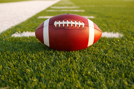college football: American Football on the Field with room for copy Stock Photo