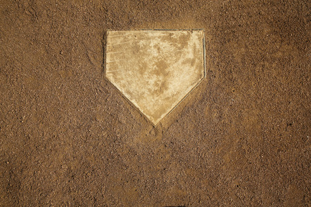 Baseball Field at Home Plate with Room for Copy