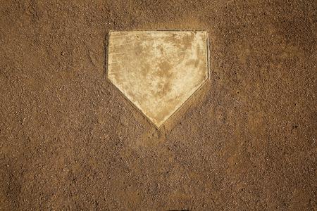campo de beisbol: El campo de b�isbol en la placa casera con capacidad para copiar