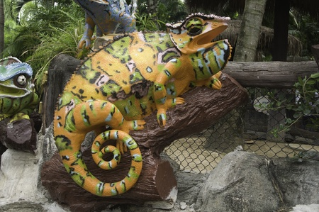 Chameleon statue photo