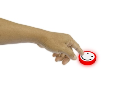 Smile button Stock Photo - 10342718