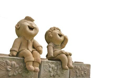 Child smile statue Stock Photo