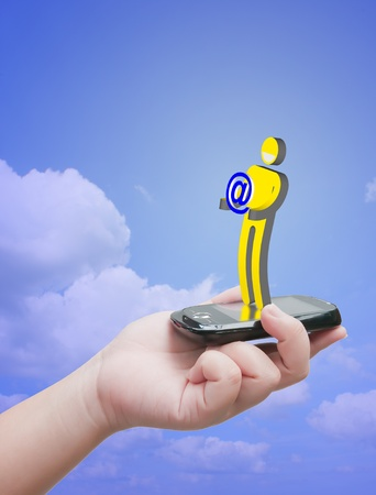 virtual communication Stock Photo - 10530479