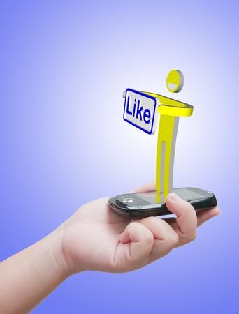 Like message Stock Photo - 10530476