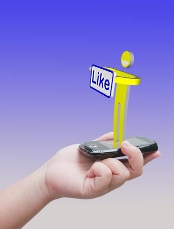 Like message Stock Photo - 10530482