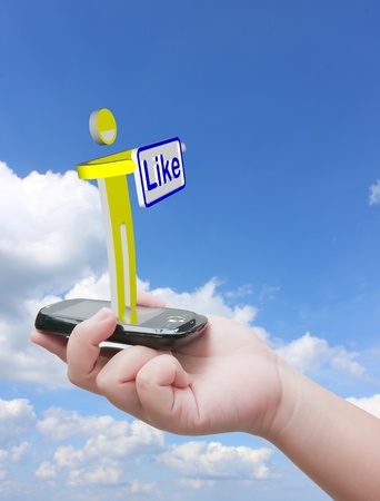 Like message Stock Photo - 10530484