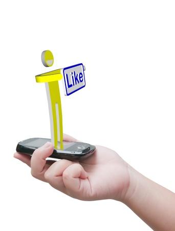 Like message Stock Photo - 10530472