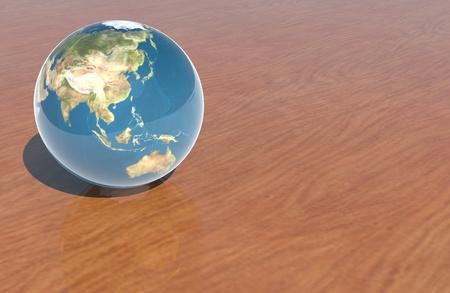 Asian in glass ball Zdjęcie Seryjne