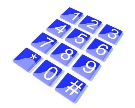 teclado numérico: Azul botón numérico