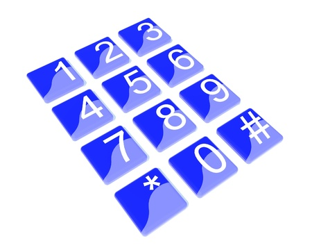 numeric: Blue numeric button