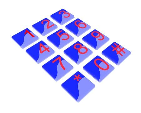 numeric: Red numeric button