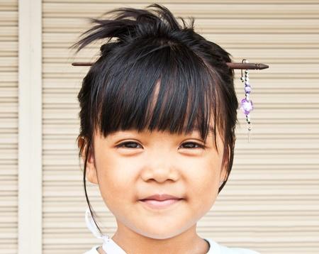 Closeup portrait of Thailand children