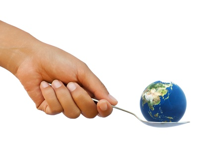 Earth in the spoon Stock Photo - 11537038