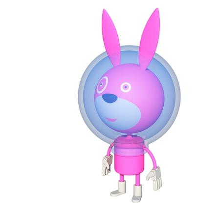 pink rabbit: Pink rabbit in space suit