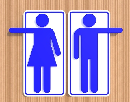Restroom Signs Фото со стока - 11863975