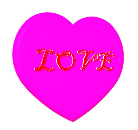Colorful of heart with love text
