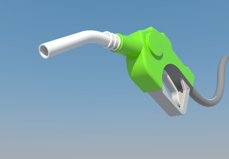 dripping gas pump nozzle to created by three dimension program photo