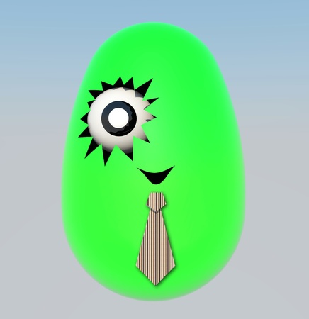 colorful of Easter egg by three dimention program photo
