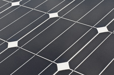 A solar cell plate in summer day photo